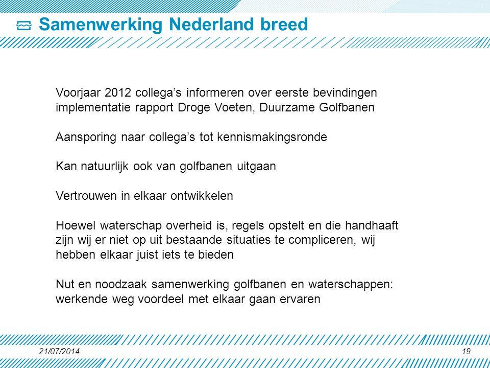 Samenwerking Nederland breed