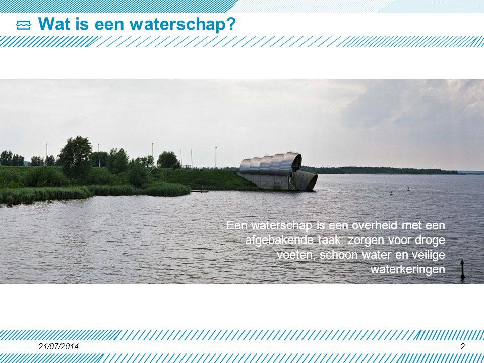 Wat is een waterschap Een waterschap is een overheid met een afgebakende taak: zorgen voor droge voeten, schoon water en veilige waterkeringen.