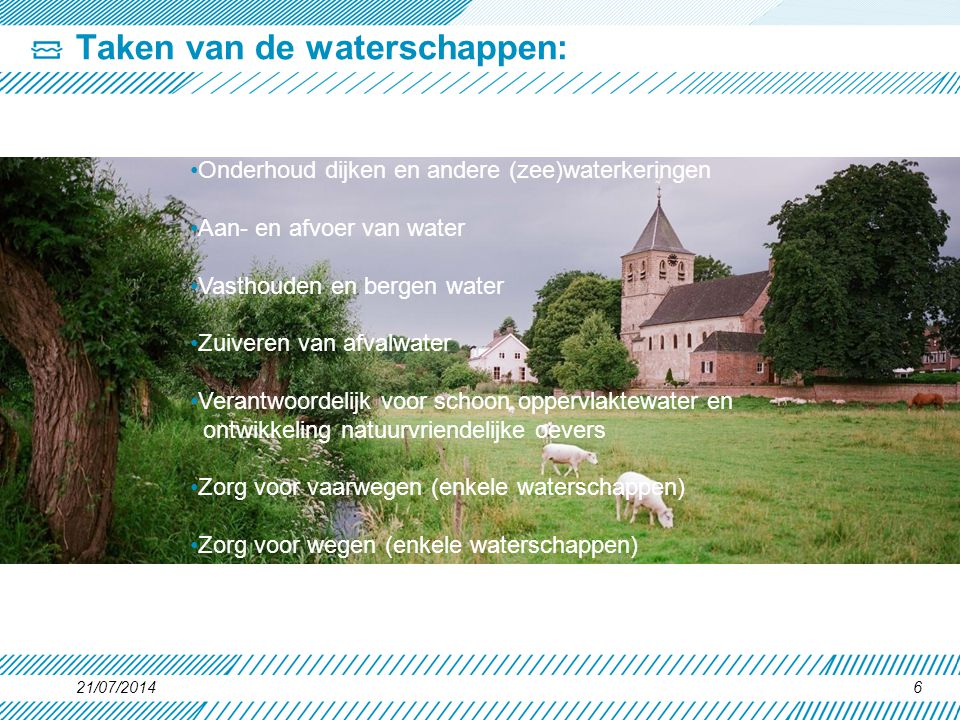 Taken van de waterschappen: