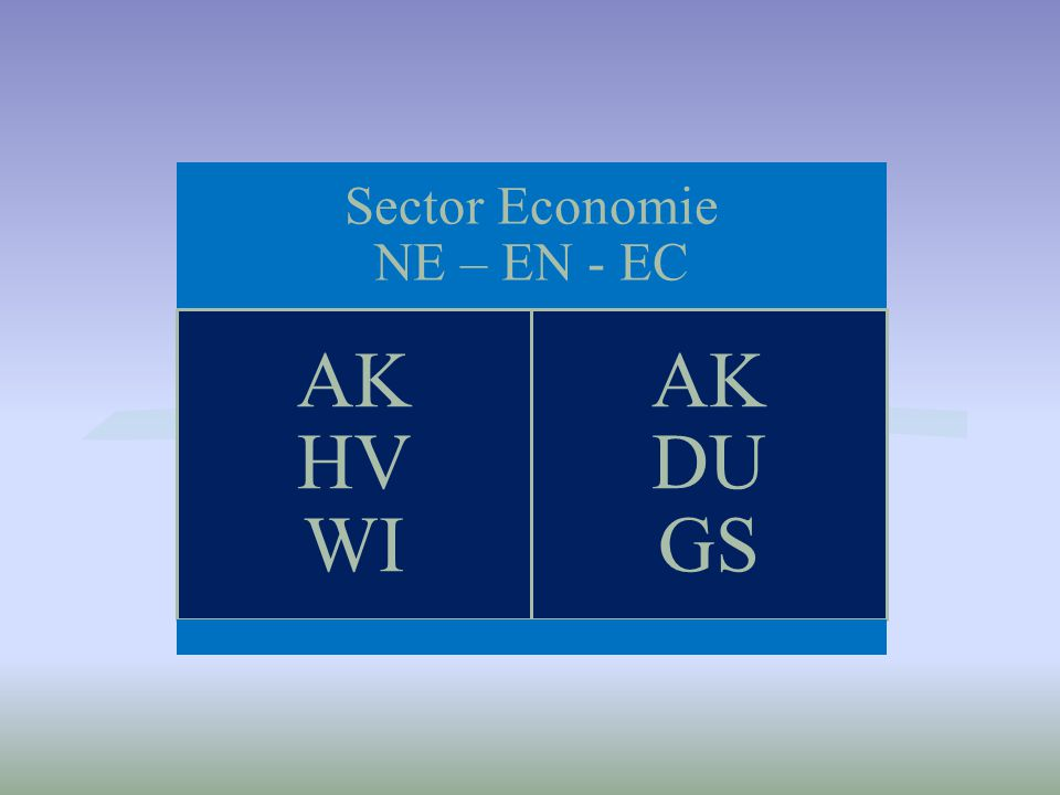 Sector Economie NE – EN - EC