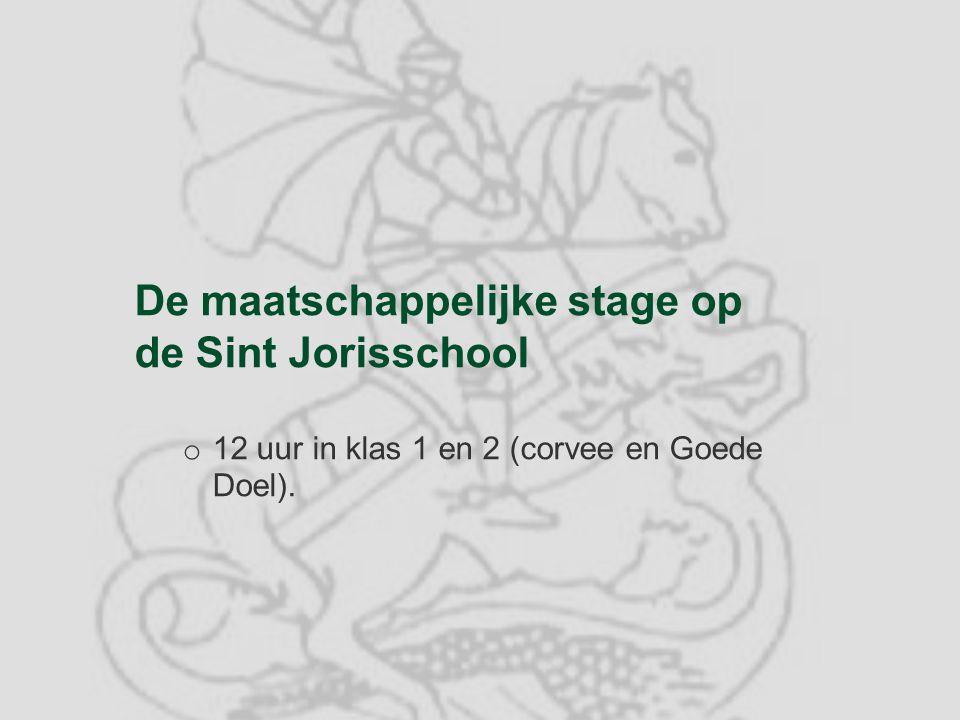 De maatschappelijke stage op de Sint Jorisschool