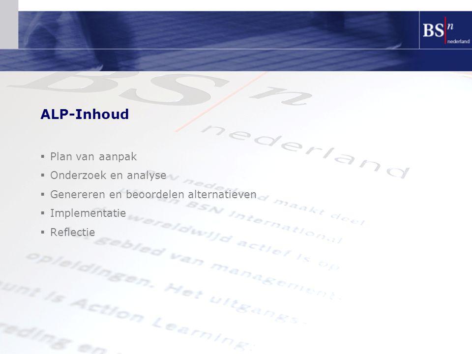 ALP-Inhoud Plan van aanpak Onderzoek en analyse
