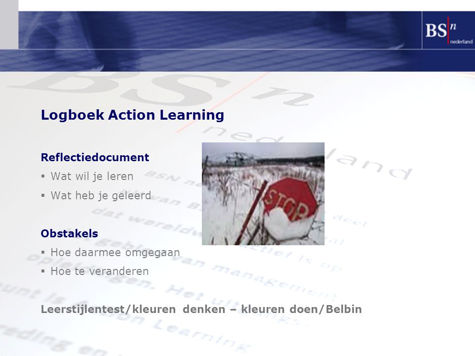 Logboek Action Learning