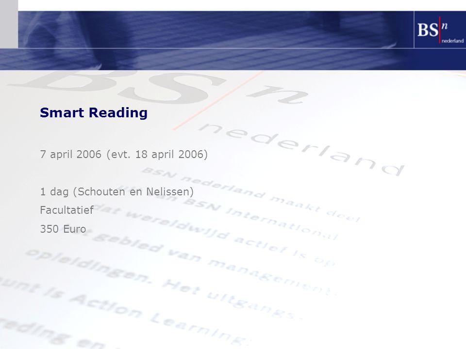 Smart Reading 7 april 2006 (evt. 18 april 2006)