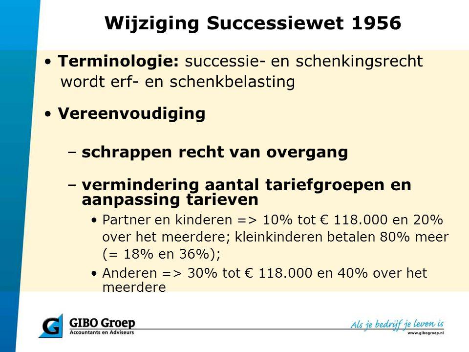 Wijziging Successiewet 1956
