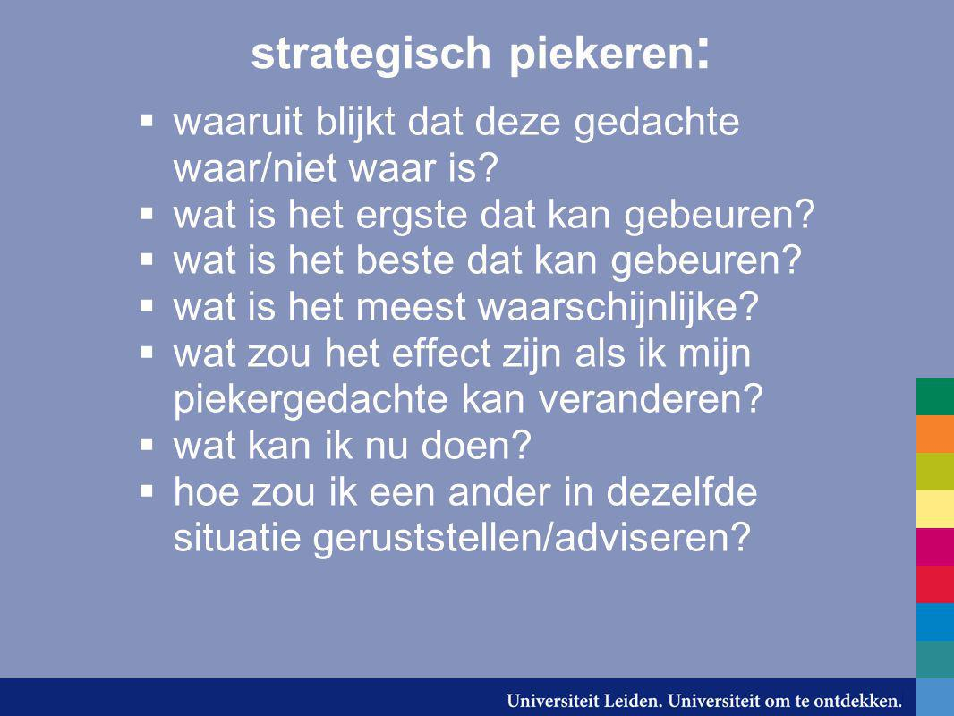 strategisch piekeren: