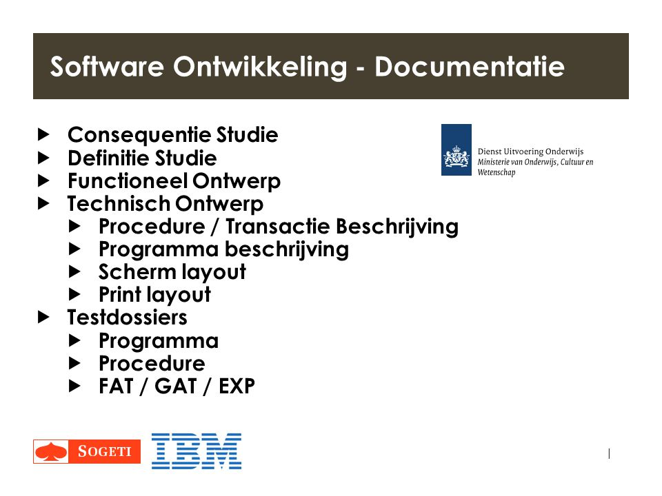 Software Ontwikkeling - Documentatie