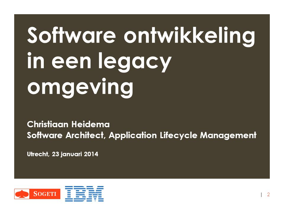 Software ontwikkeling in een legacy omgeving