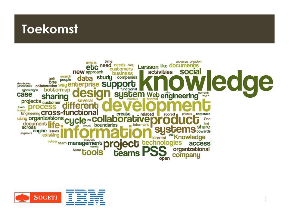 Toekomst Delen, bundelen, verspreiden van kennis gaat bepalend worden.