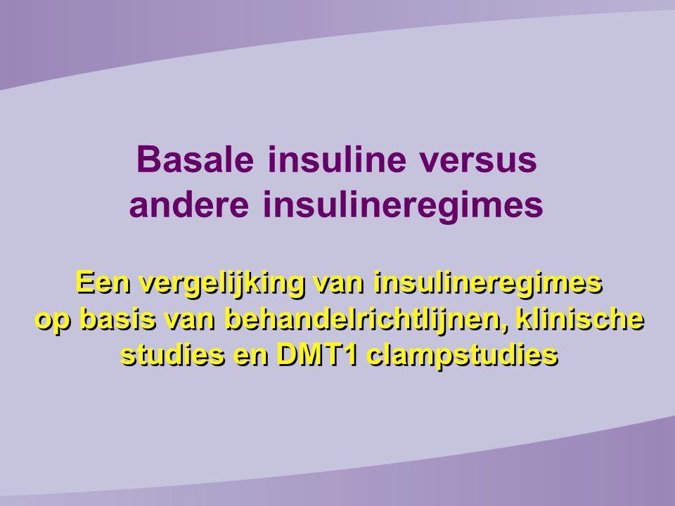 Basale insuline versus andere insulineregimes