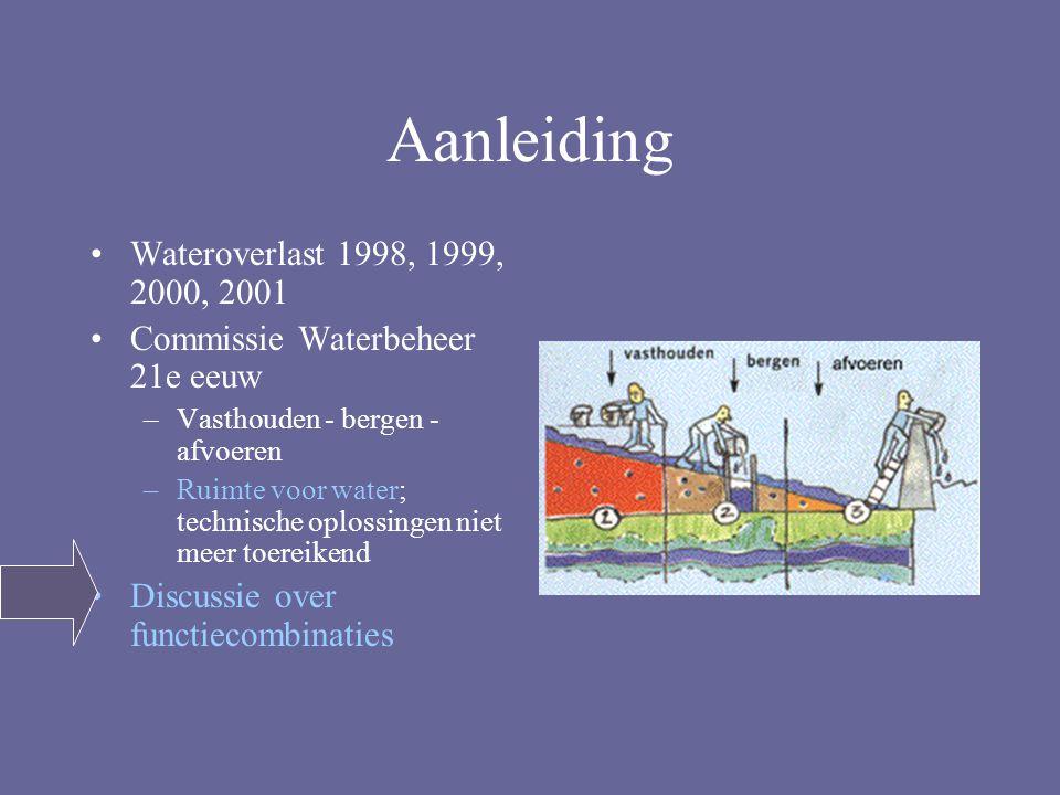 Aanleiding Wateroverlast 1998, 1999, 2000, 2001