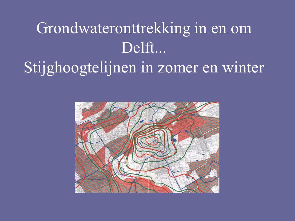 Grondwateronttrekking in en om Delft