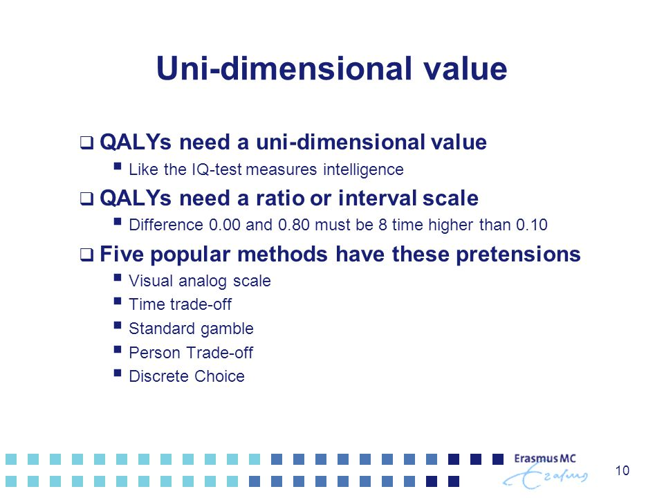 Uni-dimensional value