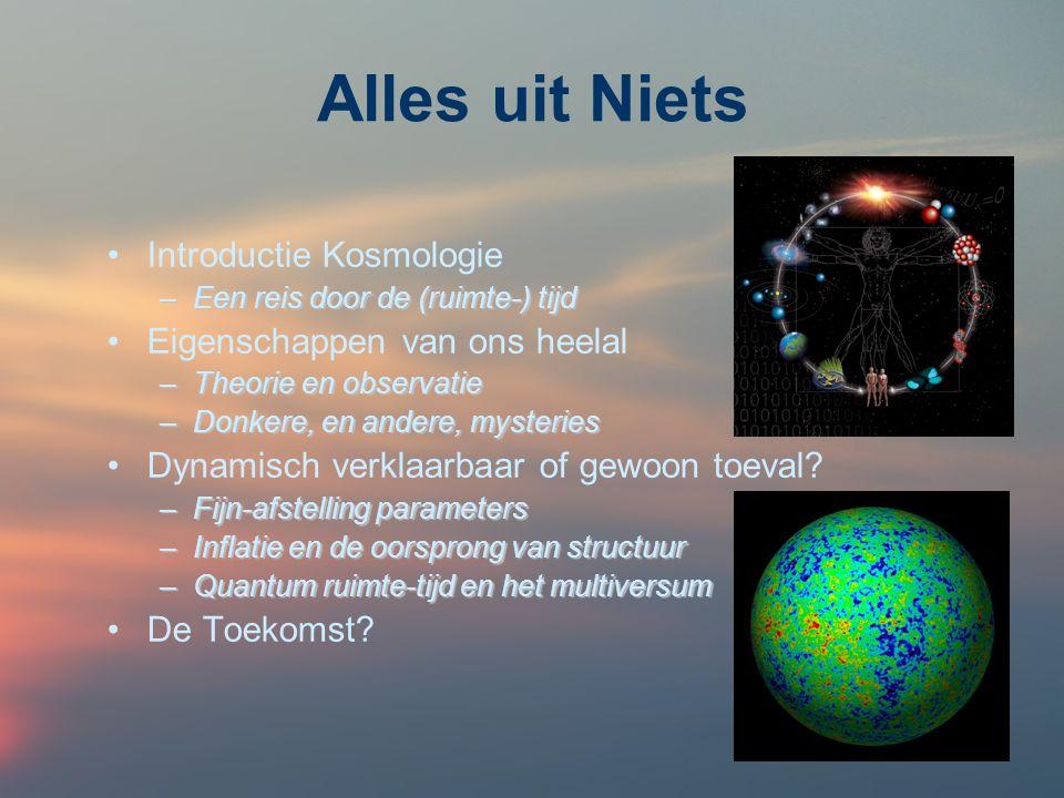 Alles uit Niets Introductie Kosmologie Eigenschappen van ons heelal