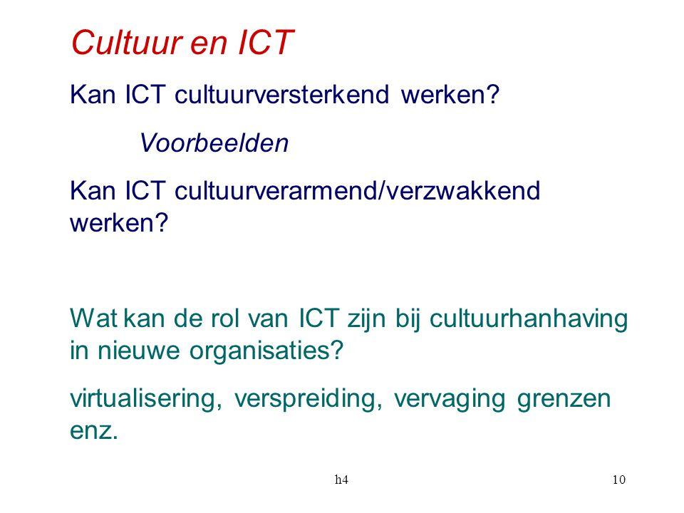 Cultuur en ICT Kan ICT cultuurversterkend werken Voorbeelden