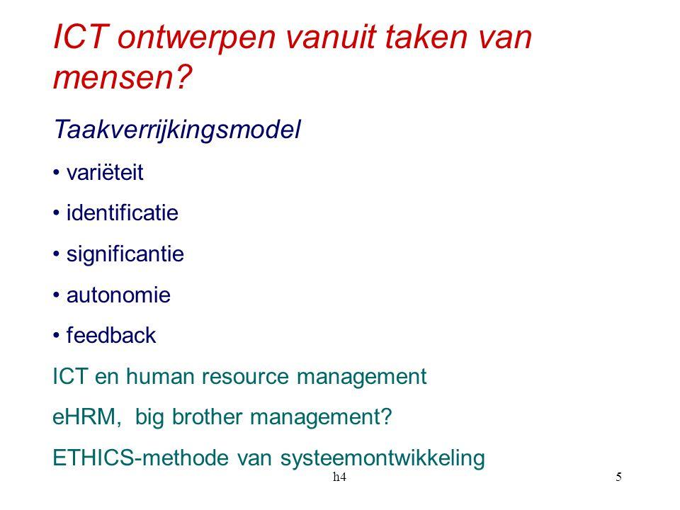 ICT ontwerpen vanuit taken van mensen