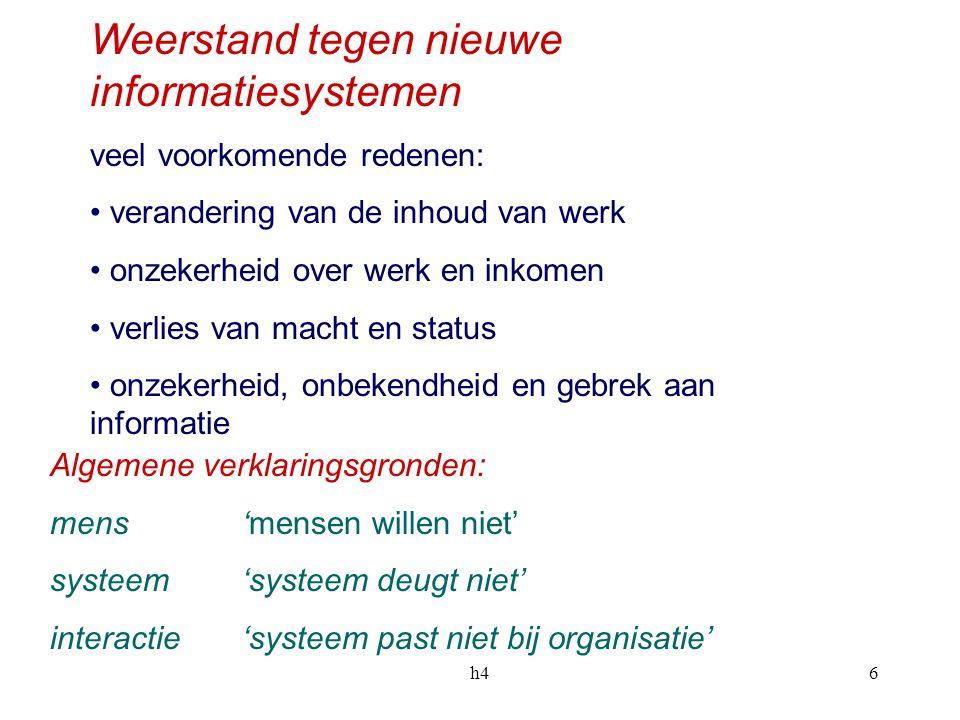 Weerstand tegen nieuwe informatiesystemen