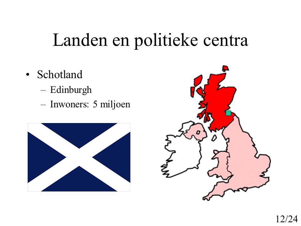 Landen en politieke centra