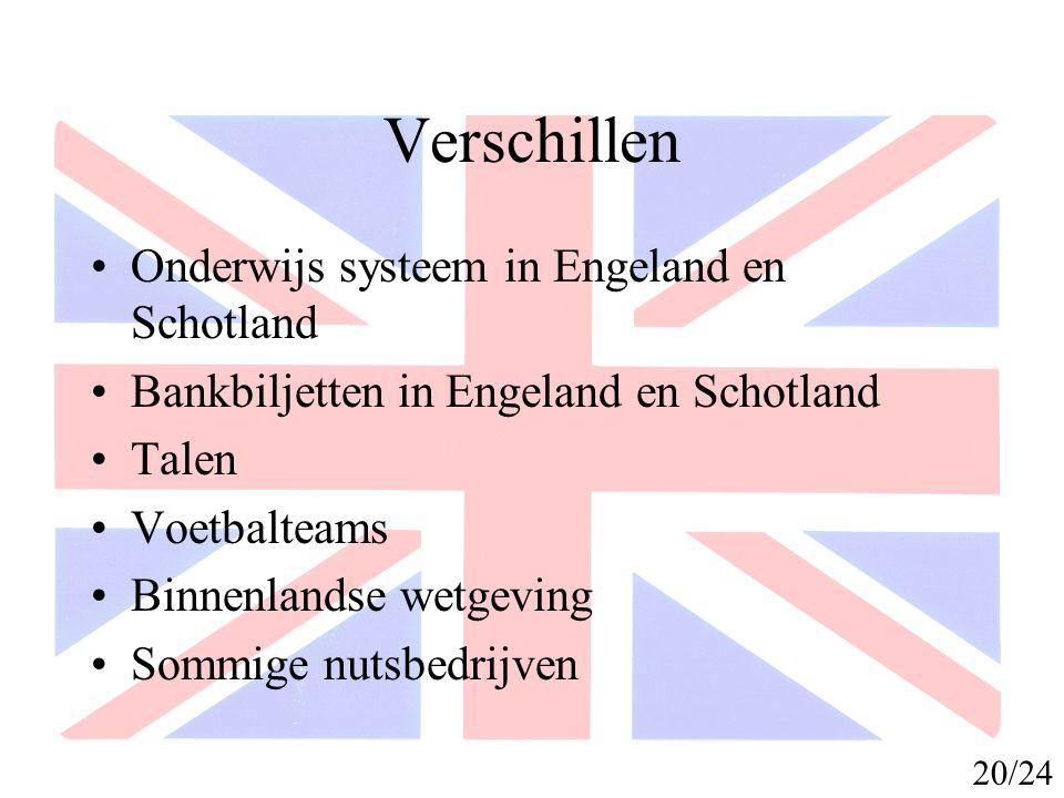 Verschillen Onderwijs systeem in Engeland en Schotland