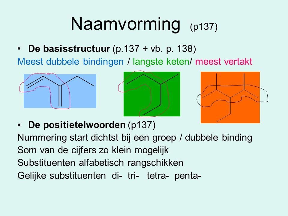 Naamvorming (p137) De basisstructuur (p.137 + vb. p. 138)
