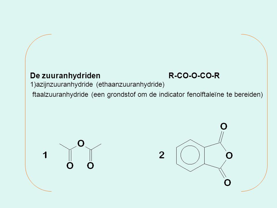 De zuuranhydriden R-CO-O-CO-R