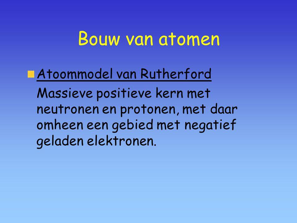 Bouw van atomen Atoommodel van Rutherford