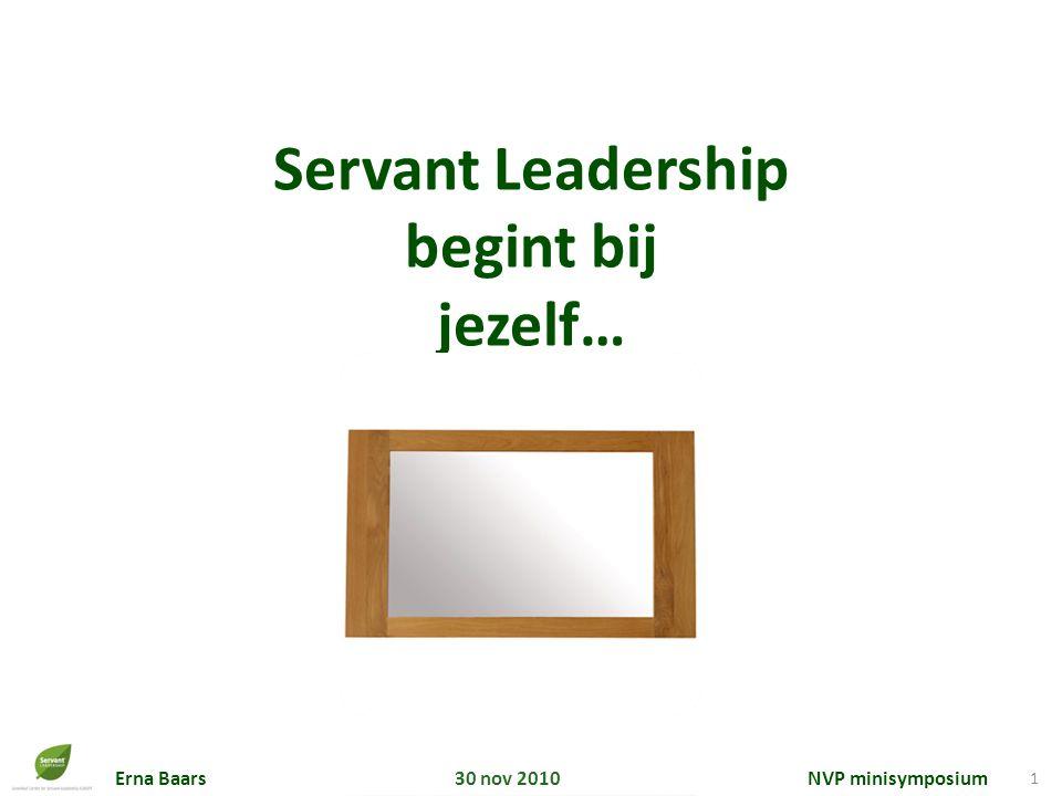 Servant Leadership begint bij jezelf…