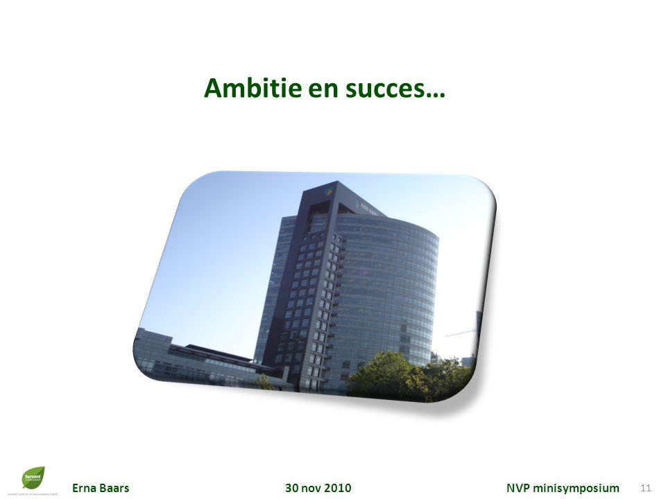 Ambitie en succes…