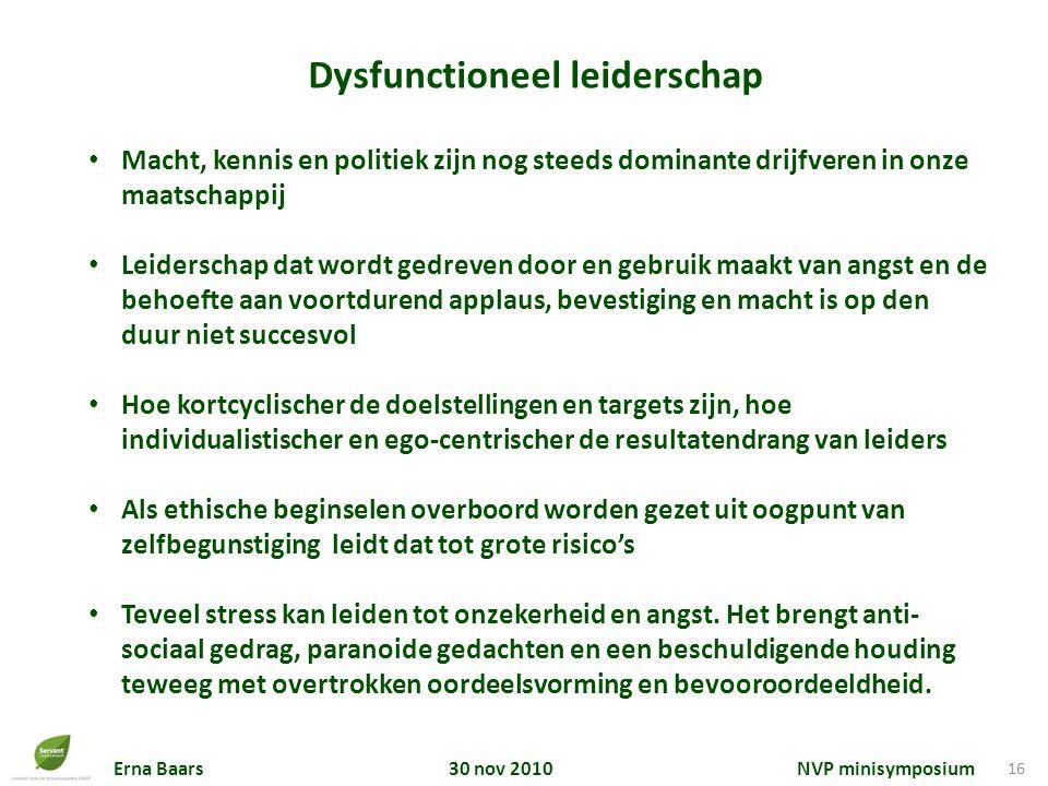 Dysfunctioneel leiderschap