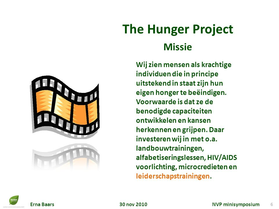 The Hunger Project Missie