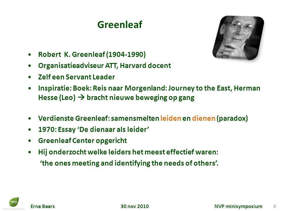 robert k greenleaf the servant as leader essay