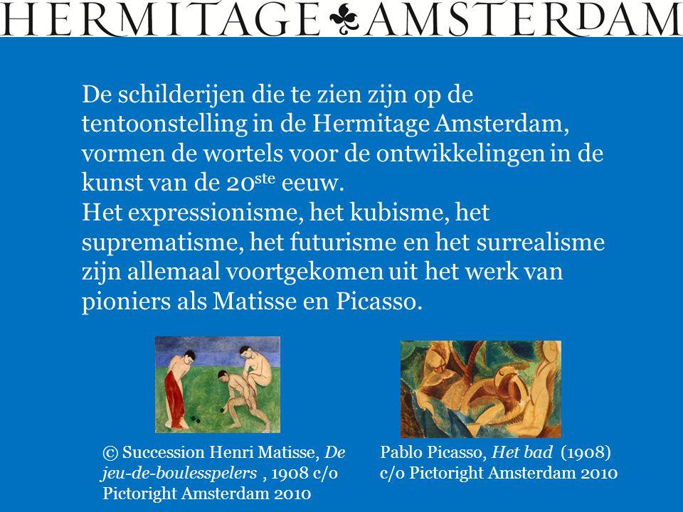 De schilderijen die te zien zijn op de tentoonstelling in de Hermitage Amsterdam, vormen de wortels voor de ontwikkelingen in de kunst van de 20ste eeuw.
