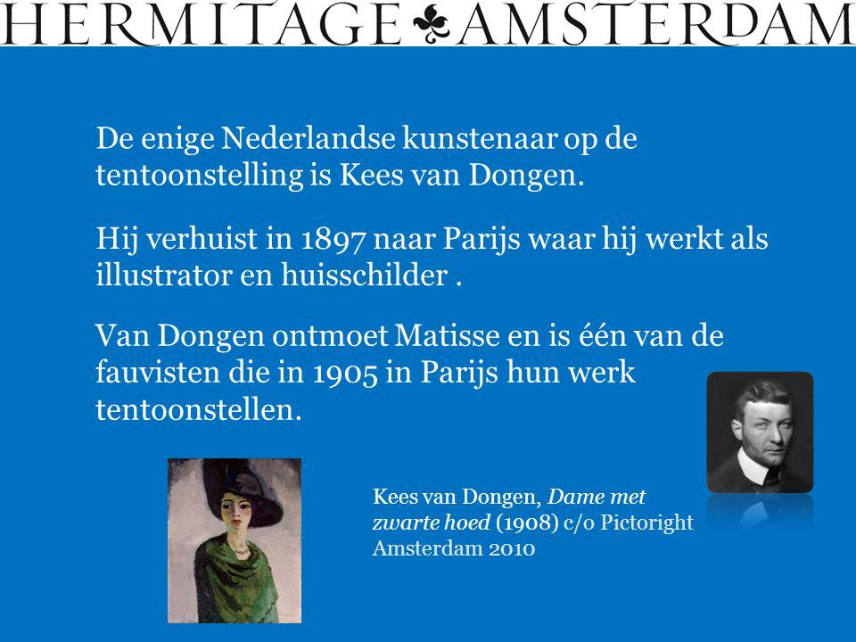 De enige Nederlandse kunstenaar op de tentoonstelling is Kees van Dongen.