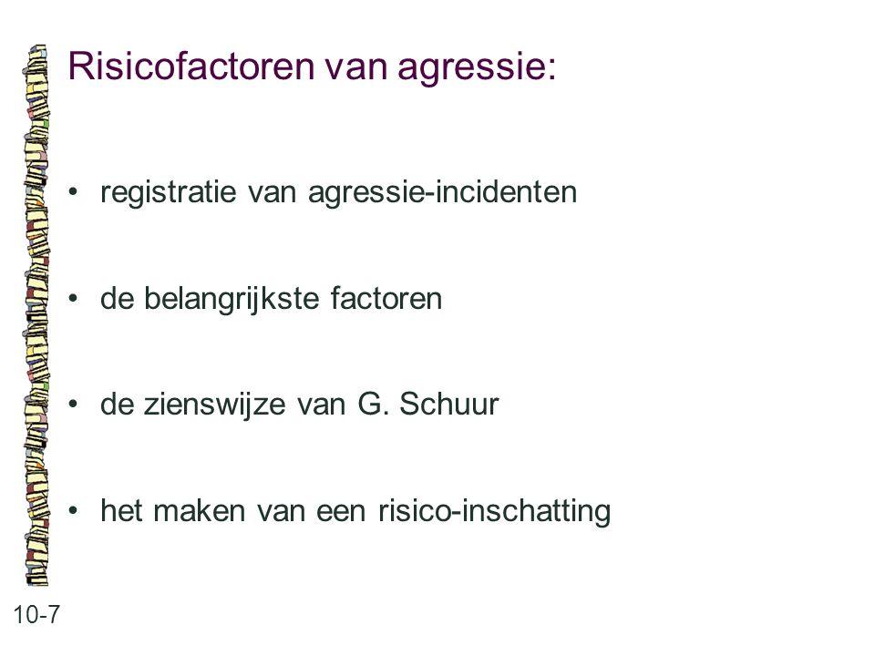 Risicofactoren van agressie: