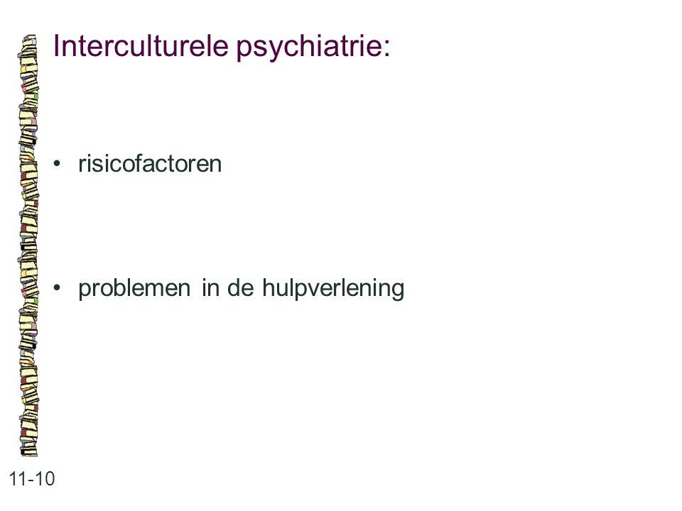 Interculturele psychiatrie:
