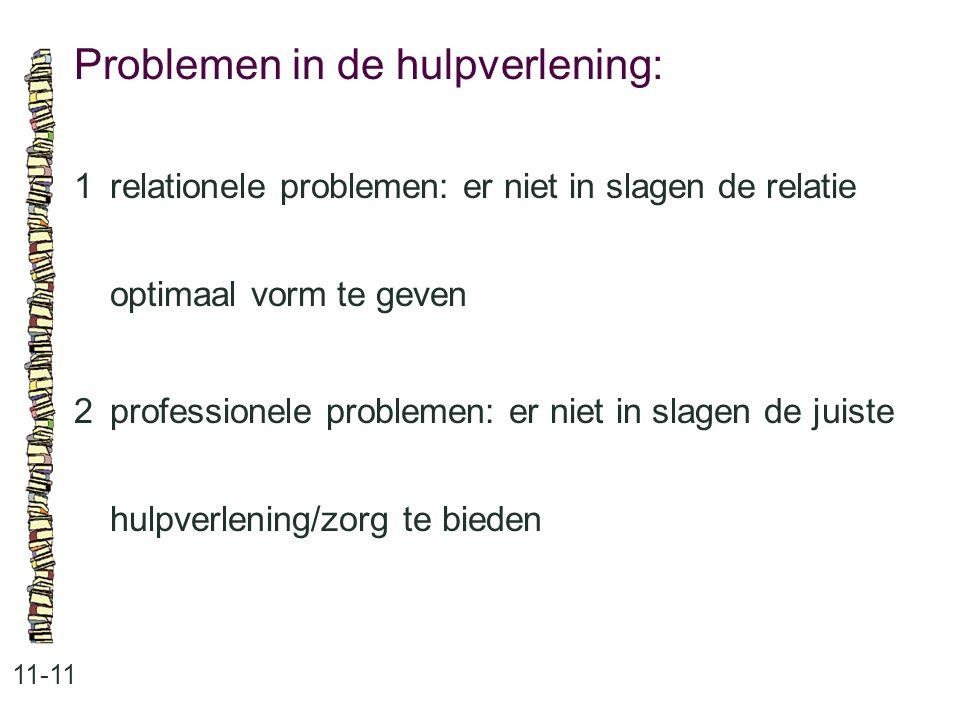 Problemen in de hulpverlening: