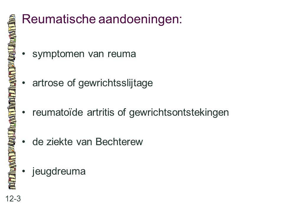 Reumatische aandoeningen: