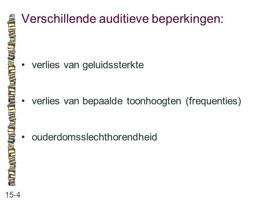 Verschillende auditieve beperkingen: