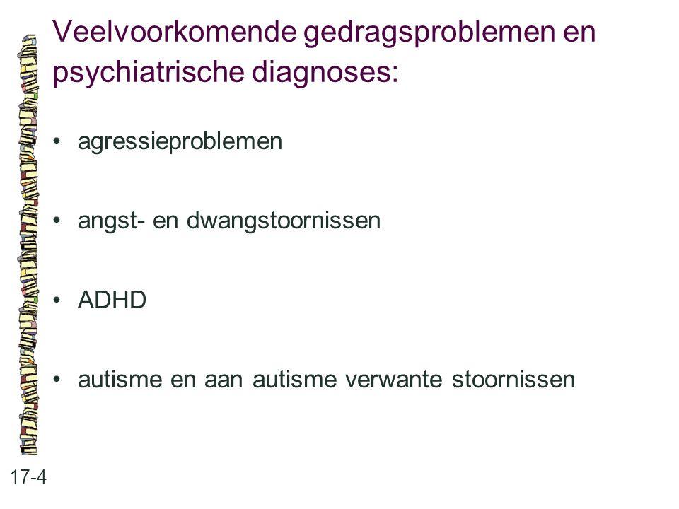 Veelvoorkomende gedragsproblemen en psychiatrische diagnoses: