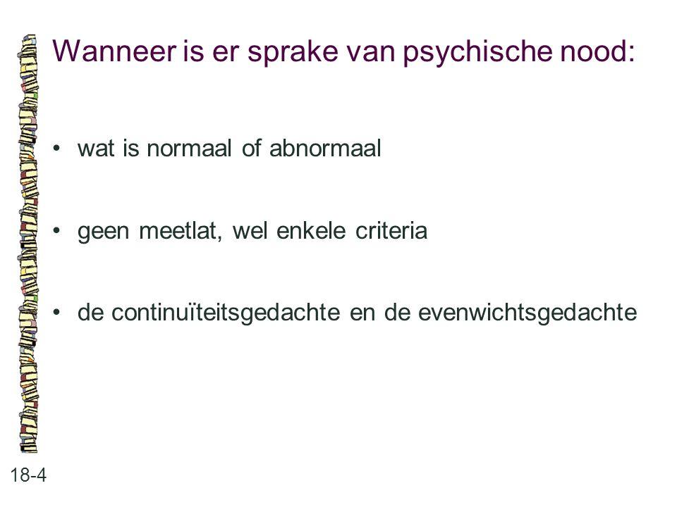 Wanneer is er sprake van psychische nood: