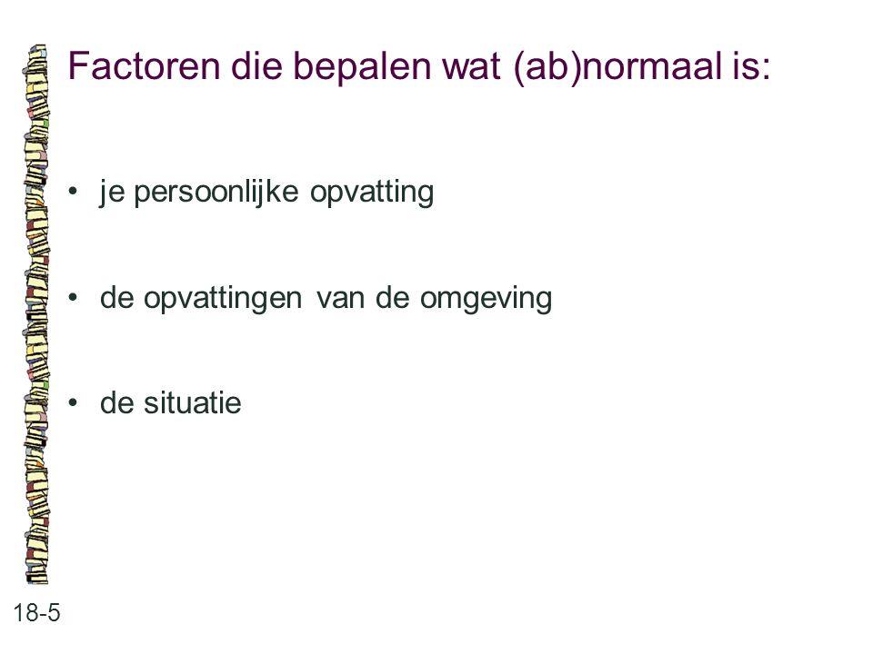 Factoren die bepalen wat (ab)normaal is: