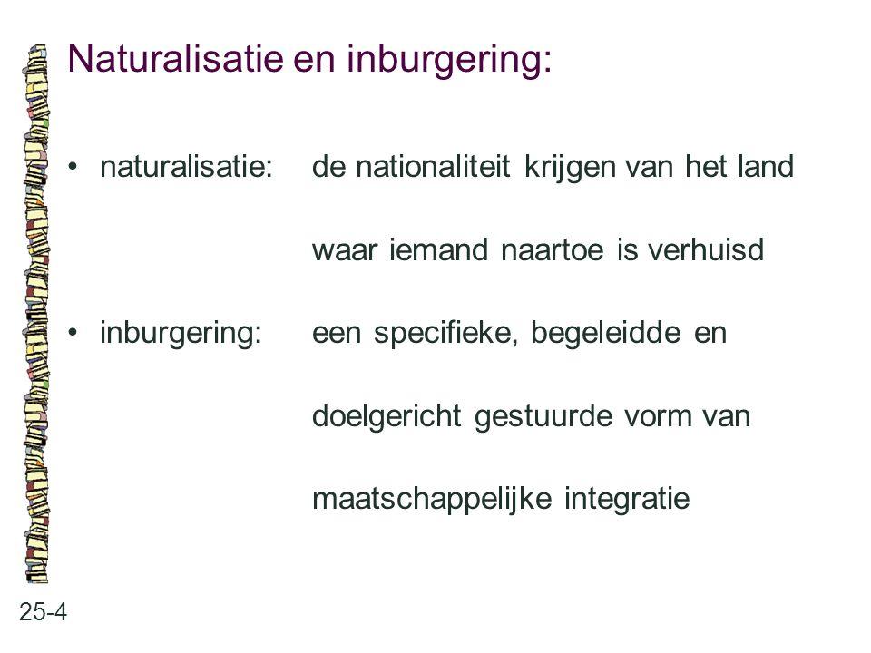 Naturalisatie en inburgering: