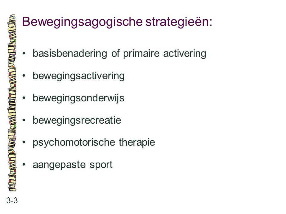 Bewegingsagogische strategieën: