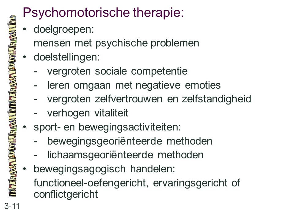 Psychomotorische therapie: