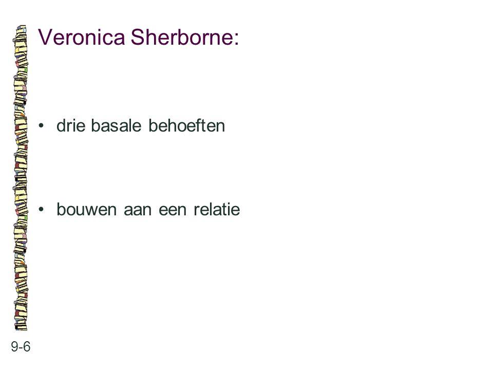 Veronica Sherborne: • drie basale behoeften • bouwen aan een relatie