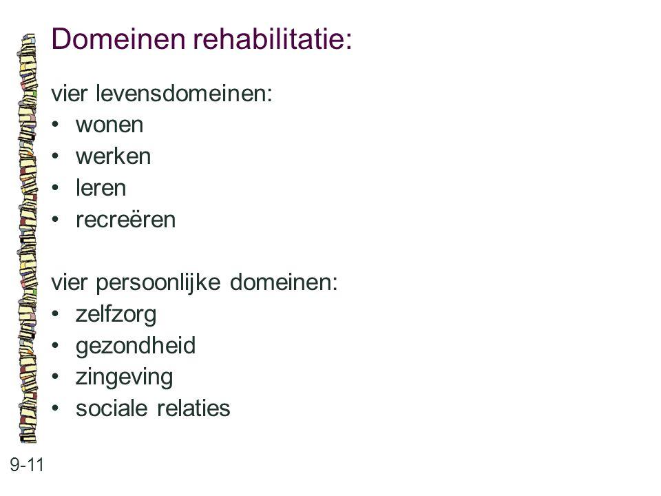 Domeinen rehabilitatie: