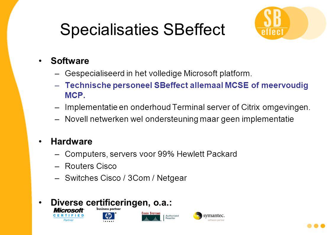 Specialisaties SBeffect