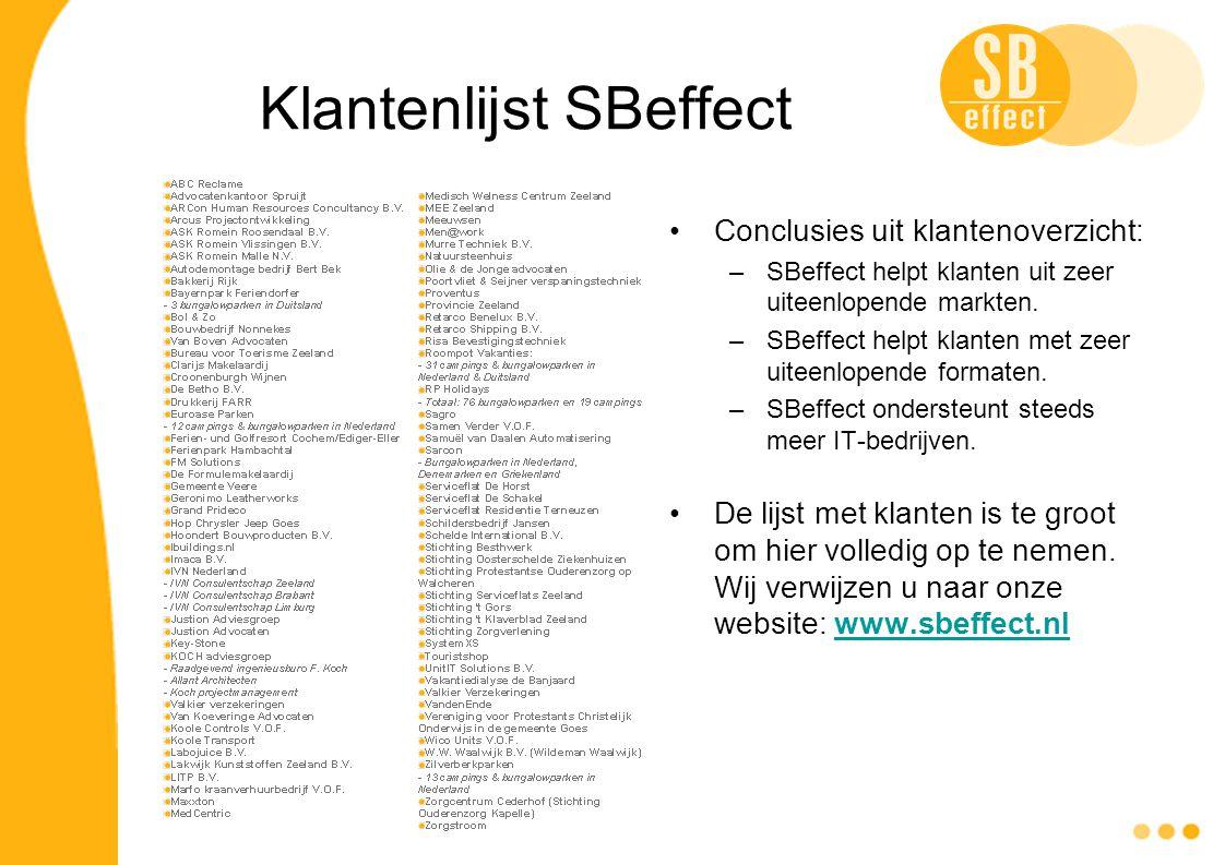 Klantenlijst SBeffect