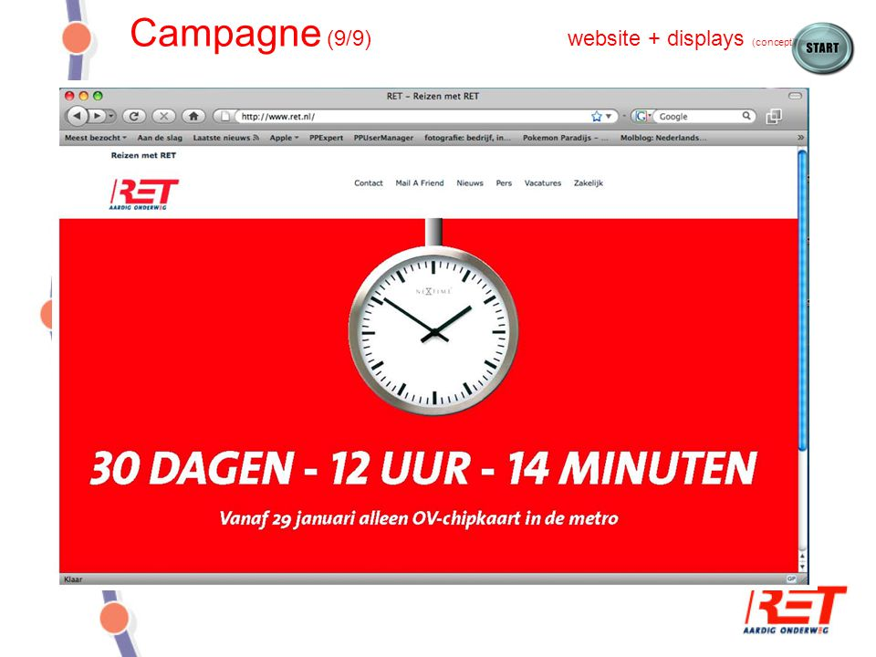 Campagne (9/9) website + displays (concept)