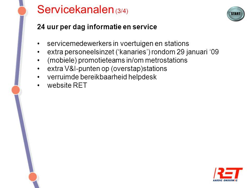 Servicekanalen (3/4) 24 uur per dag informatie en service